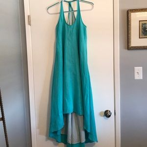 Diane von Furstenberg linen dress with pockets